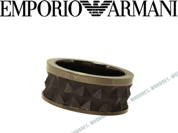 EMPORIO ARMANI エンポリオアルマーニ ガンメタル×ブラック リング・指輪 EGS2408060 ブランド/メンズ&レディース/男性用&女性用