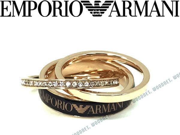 EMPORIO ARMANI エンポリオアルマーニ ゴールド×ブラック 3連リング・指輪 EGS2425221 ブランド/メンズ&レディース/男性用&女性用