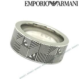 EMPORIO ARMANI リング・指輪 エンポリオアルマーニ メンズ&レディース シルバー×ブラック EGS2508040 ブランド