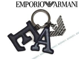 EMPORIO ARMANI キーホルダー エンポリオアルマーニ メンズ&レディース キーケース ブラック×ガンメタル Y4R178-YLI9J-82264 キーリング ブランド