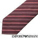 EMPORIO ARMANI ネクタイ エンポリオアルマーニ メンズ ストライプ柄 シルク バーガンディー 340075-307-00176 ブラン…