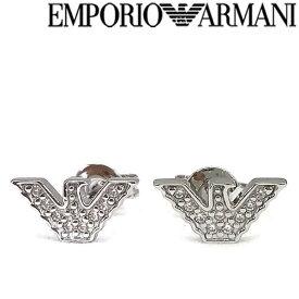 【人気モデル】EMPORIO ARMANI ピアス エンポリオアルマーニ メンズ&レディース シルバーシルバー925 イーグルロゴ アクセサリー EG3027040 ブランド