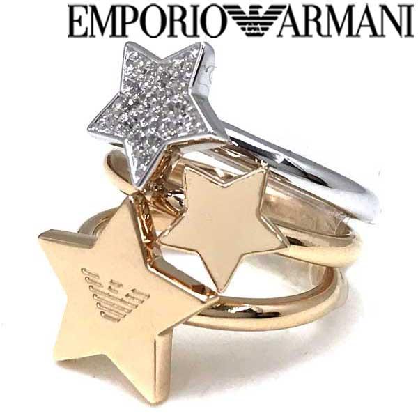 EMPORIO ARMANI リング・指輪 エンポリオアルマーニ メンズ&レディース ゴールド×シルバー 3連 EG3366221 ブランド