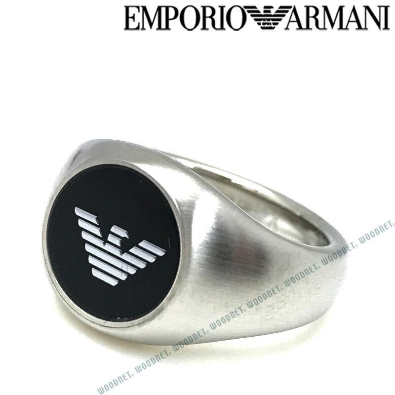 EMPORIO ARMANI リング・指輪 エンポリオアルマーニ メンズ&レディース マットシルバー×ブラック EGS2597040 ブランド
