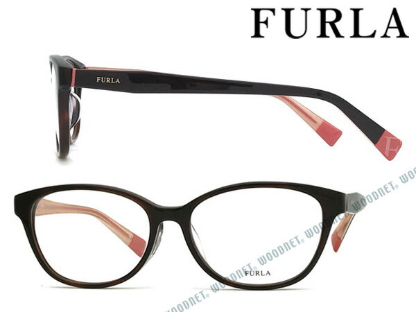 FURLA メガネフレーム フルラ ダークハバナ レディース 眼鏡 VFU-273J-9XKY ブランド