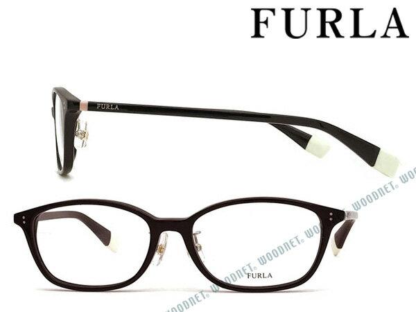 FURLA メガネフレーム フルラ ブラック レディース 眼鏡 VFU-274J-0700 ブランド