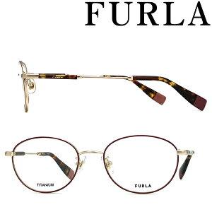 FURLA メガネフレーム フルラ レディース ダークピンク 眼鏡 VFU-525J-0323 ブランド