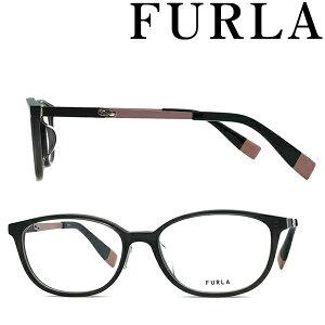 FURLA メガネフレーム フルラ レディース クリアブラック 眼鏡 VFU-527J-09HP ブランド