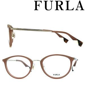 FURLA メガネフレーム フルラ レディース トランスルーセントテラコッタ 眼鏡 VFU-528J-06XM ブランド