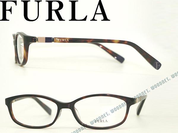 FURLA メガネフレーム ハバナ VU-4989J-0722 フルラ 眼鏡 めがね ブランド/レディース/女性用/度付き・伊達・老眼鏡・カラー・パソコン用PCメガネレンズ交換対応/レンズ交換は6,800円〜