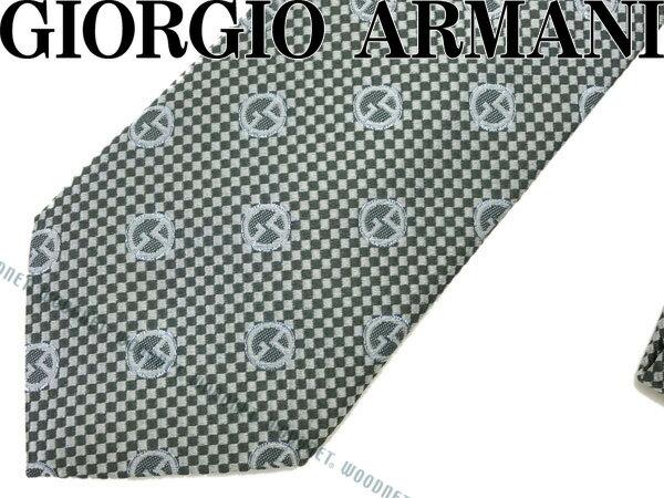GIORGIO ARMANI ジョルジオアルマーニ ネクタイ シルク アルミニウム グリーンシルバー×シルバー 360054-7A911-06342 ブランド/メンズ/男性用