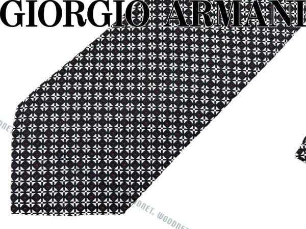 GIORGIO ARMANI ジョルジオアルマーニ ネクタイ シルク ネイビー×シルバー×レッド 360087-7A937-00035 ブランド/メンズ/男性用