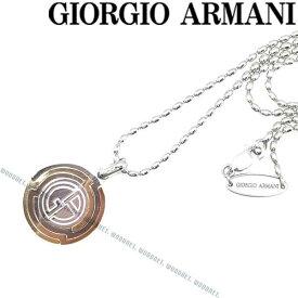 GIORGIO ARMANI ネックレス ジョルジオアルマーニ メンズ ロゴ シルバー×ゴールド 53L002-002-00017 ブランド