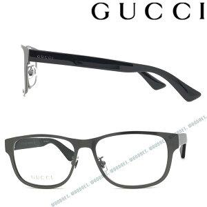 GUCCI メガネフレーム グッチ メンズ&レディース ダークシルバー 眼鏡 GUC-GG-0007O-005 ブランド