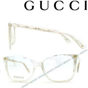 GUCCI メガネフレーム グッチ メンズ&レディース パールホワイト 眼鏡 GUC-GG-0026O-003 ブランド