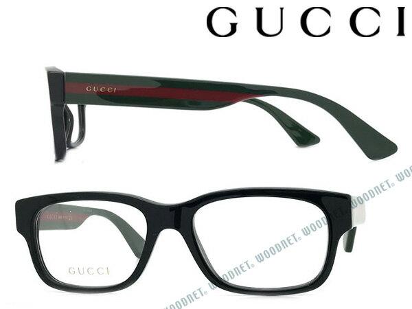 GUCCI メガネフレーム グッチ メンズ&レディース ブラック 眼鏡 GUC-GG-0343O-001 ブランド