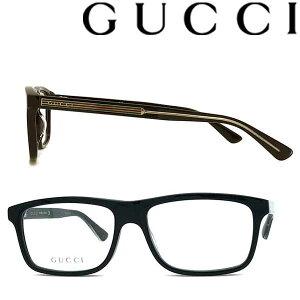 GUCCI メガネフレーム グッチ メンズ&レディース ブラック 眼鏡 GUC-GG-0384O-001 ブランド