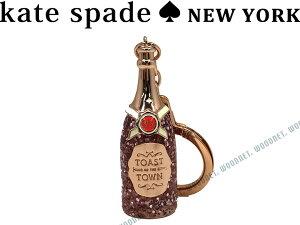 KATE SPADE ケイトスペード キーホルダー シャンパンボトル ローズゴールド キーケース 1KRU0152-717 キーリング ブランド/レディース/女性用