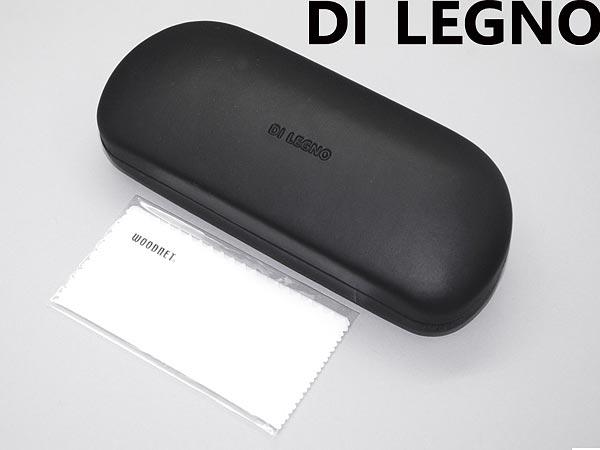 大きめ!特大メガネケース+高性能メガネクロス1枚付き 高級PVCレザー(革)黒ブラック眼鏡ケース めがね入れ メガネ拭きサービス おしゃれ DIL-CASE001-AND-CLOTH001