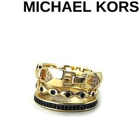 MICHAEL KORS リング・指輪 マイケルコース レディース ロゴ ゴールド×ブラック MKC1150AR931 ブランド