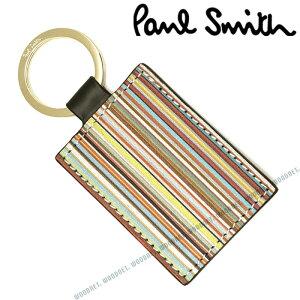 Paul Smith キーホルダー ポールスミス メンズ レディース レザー キーケース ブラック M1A4780-AMULTI79 キーリング ブランド