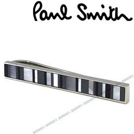 Paul Smith ネクタイピン ポールスミス メンズ シルバー×グレーマルチストライプ M1ATPIN-AMOPL04 ブランド ビジネス