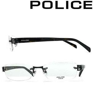 POLICE メガネフレーム ポリス メンズ&レディース ブラック 縁無し 眼鏡 POLICE-VPL176J-0530 ブランド
