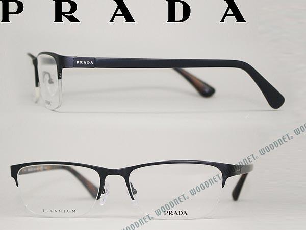 プラダ PRADA メガネフレーム 眼鏡 マットブラック めがね PR52SV-1BO1O1 ブランド