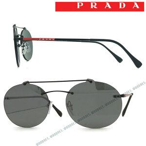PRADA LINEA ROSSA サングラス UVカット プラダリネアロッサ メンズ&レディース ブラックミラー 縁なし 0PS-56TS-1AB5LO ブランド