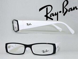 供供雷斑眼鏡架子RayBan眼鏡眼鏡黑色×白0RX-5076-2097名牌/人&女士/男性使用的&女性使用的/度從屬于的伊達、老花眼鏡、彩色·個人電腦事情PC眼鏡透鏡交換對應/透鏡交換是6,800日圆~