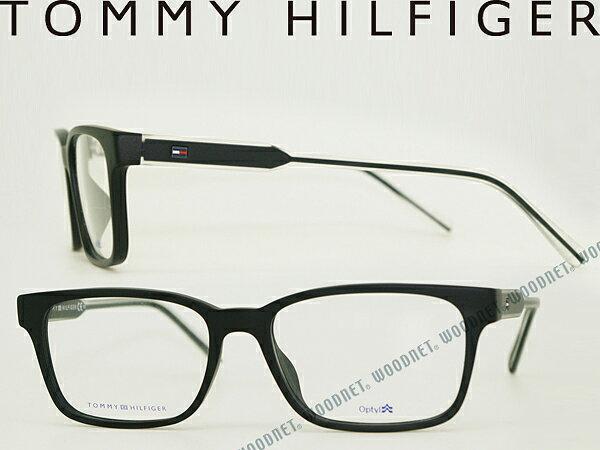 メガネフレーム TOMMY HILFIGER ブラック トミーヒルフィガー 眼鏡 めがね TH1461F-E17 ブランド/メンズ&レディース/男性用&女性用/度付き・伊達・老眼鏡・カラー・パソコン用PCメガネレンズ交換対応/レンズ交換は6,800円〜