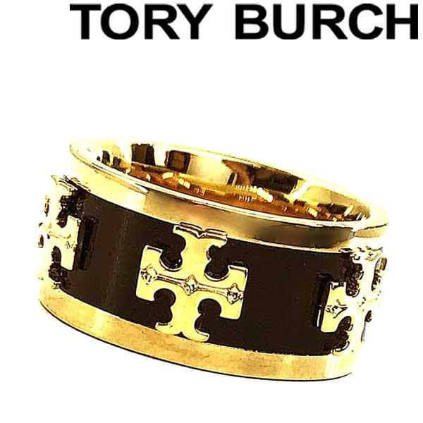 TORY BURCH トリーバーチ ロゴ ゴールド×ブラック リング・指輪 アクセサリー 39582-10 ブランド/レディース/女性用