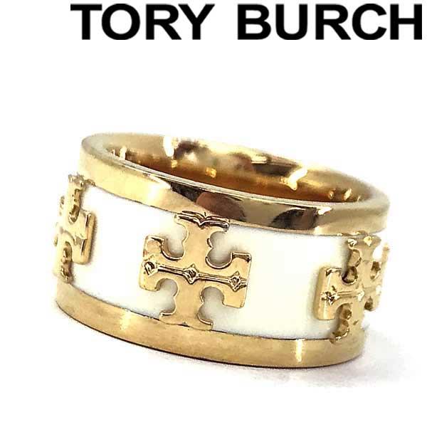 TORY BURCH トリーバーチ ロゴ ゴールド×アイボリー リング・指輪 アクセサリー 39582-119 ブランド/レディース/女性用