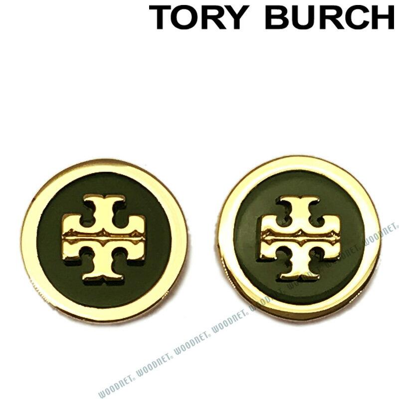 TORY BURCH ピアス トリーバーチ レディース ダークグリーン×ゴールド 40827-312