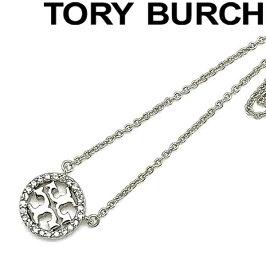 TORYBURCHネックレストリーバーチレディースクリスタルロゴシルバー53420-042ブランド
