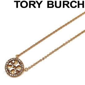 TORY BURCH ネックレス トリーバーチ レディース クリスタルロゴ ローズゴールド 53420-696 ブランド チョーカー ペンダント