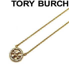 TORY BURCH ネックレス トリーバーチ クリスタルロゴ ゴールド 53420-783 ブランド