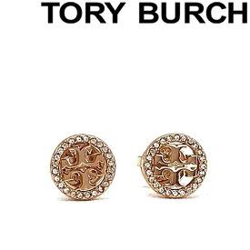 TORY BURCH ピアス トリーバーチ レディース クリスタルロゴ ローズゴールド 53422-696 ブランド