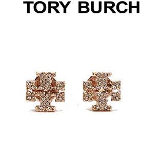 TORY BURCH ピアス トリーバーチ レディース クリスタルロゴ ローズゴールド 53423-696 ブランド
