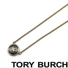 TORY BURCH ネックレス トリーバーチ レディース キラ エナメル ペンダント ゴールド×ブラック 64936-720