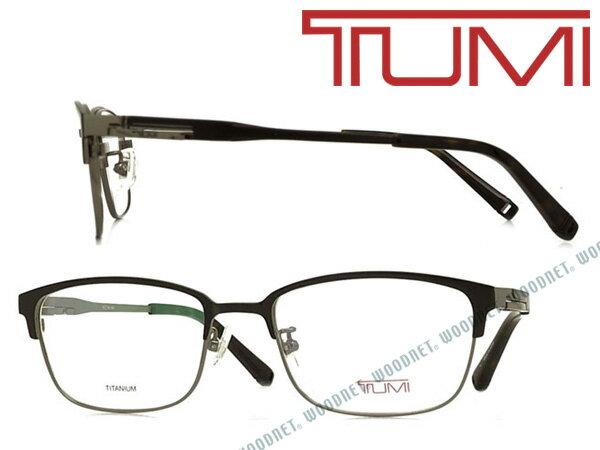 TUMI メガネフレーム トゥミ メンズ マットブラック×シルバー 眼鏡 TU-10-0067-04