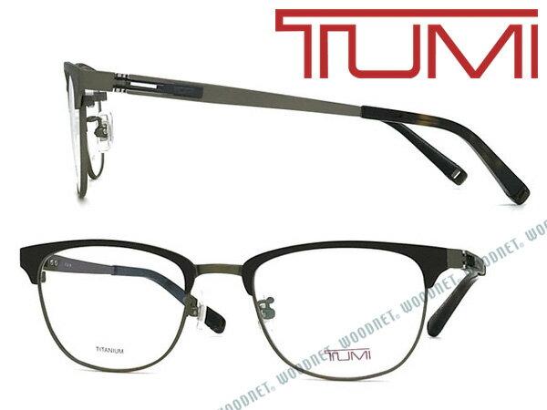 TUMI メガネフレーム トゥミ メンズ マットブラック×アンティークゴールド 眼鏡 TU-10-0072-04