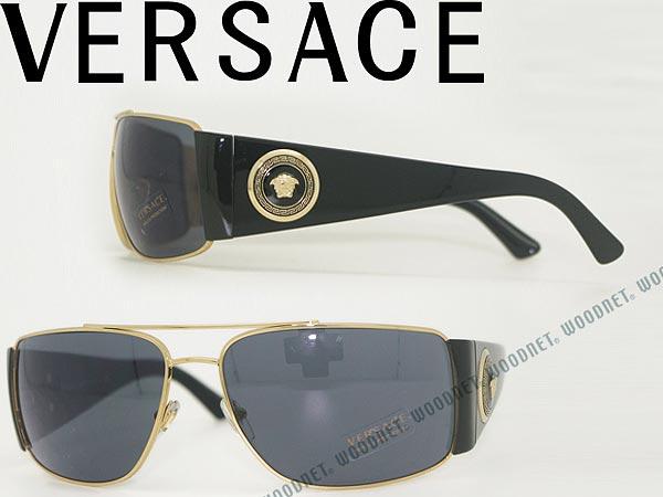 ヴェルサーチ サングラス ブラック VERSACE 0VE-2163-1002-87 ブランド/メンズ&レディース/男性用&女性用/紫外線UVカットレンズ/ドライブ/釣り/アウトドア/おしゃれ