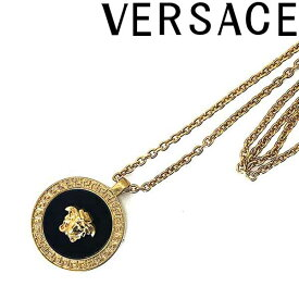 VERSACE ネックレス ベルサーチ メンズ&レディースゴールド×ブラック メドゥーサ ロゴ DG17255-DJMR-K41T ブランド