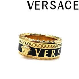 VERSACE リング・指輪 ベルサーチ メンズ&レディース メドゥーサロゴ リング・指輪 ゴールド×ブラック DG57927-DJMS-D41OH ブランド
