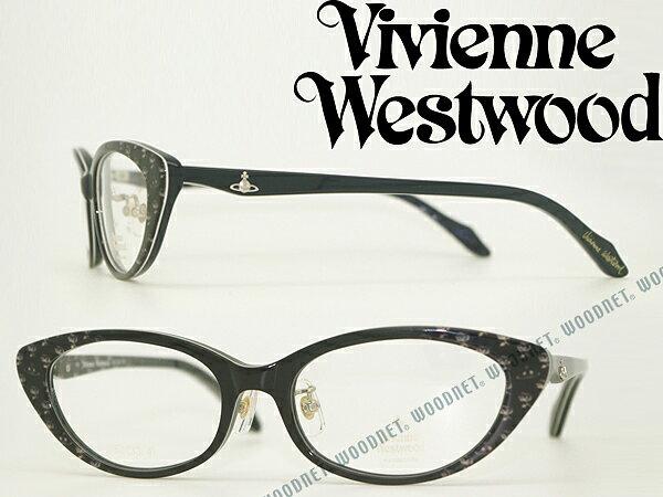 Vivienne Westwood 眼鏡 ヴィヴィアン・ウエストウッド メガネフレーム めがね ブラック VW-7052-BK ブランド/レディース/女性用/度付き・伊達・老眼鏡・カラー・パソコン用PCメガネレンズ交換対応/レンズ交換は6,800円〜