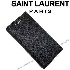SAINT LAURENT PARIS 長財布 サンローラン・パリ メンズ 型押しレザー ブラック 小銭入れあり 396308-BTY0N1000 ブランド