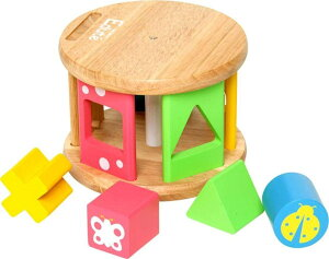 木のおもちゃ 型はめ KOROKOROパズル(コロコロパズル) 出産祝い 赤ちゃん ベビー 幼児 おもちゃ 玩具 ギフト プレゼント 祝い お祝い 誕生日 1歳 男 女 エデュテ
