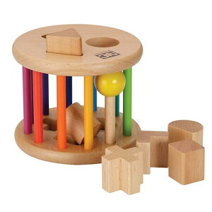 木のおもちゃ 型はめ「ローリングパズルネオ」 ニチガンオリジナル 1歳 2才 2歳 誕生日プレゼント 人気の木のおもちゃ お誕生日 プレゼント 木製 知育玩具 かたはめ 型はめ 形合わせ ポスト