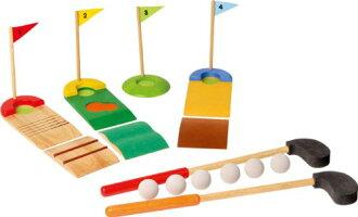 ●VOILA鍋爐高爾夫球安排玩具木製玩具智育玩具3歲室內比賽分娩祝賀